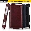 Для Sony Xperia L Случай sony c2105 обложка флип кожаный чехол для Sony Xperia L S36h c2105 c2104 iMUCA случай мобильного телефона аксессуары