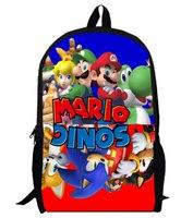 16インチアニメソニックスーパーマリオバックパック学生スクールバッグ男の子女の子デイリーバックパック子供バッグ子供最高のギフトバックパッ