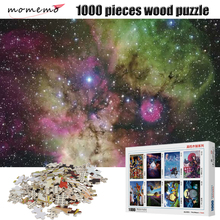 MOMEMO Beautiful Starry Sky Jigsaw Puzzles Wooden Puzzle 1000 Pieces Landscape Games Toys for Children