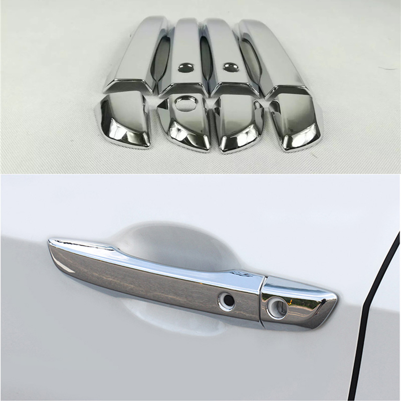 Car Styling Door Handle Cover Stickers Abs For Honda Civic 2016 Auto Accessories Exterior