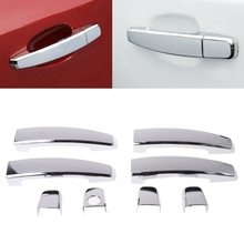 NoEnName_Null ABS Chrome Door Handle Cover Sticker For Chevrolet Cruze 2009-2014