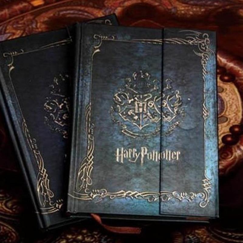 Vintage Harry Potter jegyzetfüzet 2017-2018-2019-es naptárgal Naptár Retro kemény borító menetrend ütemterv tervezői ajándék