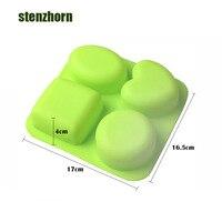Kuchen dekoration 3D Herzförmigen Rund Oval Squar Verschiedenen Formen Seife Kuchenform DIY Backenwerkzeuge Für Kuchen Dekorieren formen