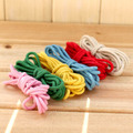 Candy Color 4mm DIY Handmade compound Cotton Rope Woven Cotton Cord for Diy Accessories drawstring Bag Rope Craft Projects 6pcs