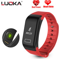 LUOKA Original Waterproof F1 Smart Band Wristband Sport Watch Intelligent Bracelet Call Reminder Step Pulse Heart