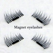 2017 New 1 Pair/ 4Pcs 3D Magnetic False Fake Eyelashes Extension Eye Beauty Makeup Accessories Natural Soft Hair False Eyelashes