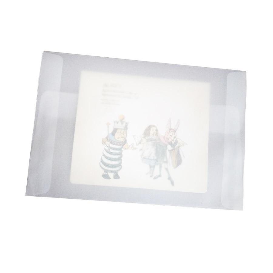 100pcs/lot Blank Translucent vellum envelopes DIY Multifunction Gift card envelope with seal sticker for wedding birthday 2