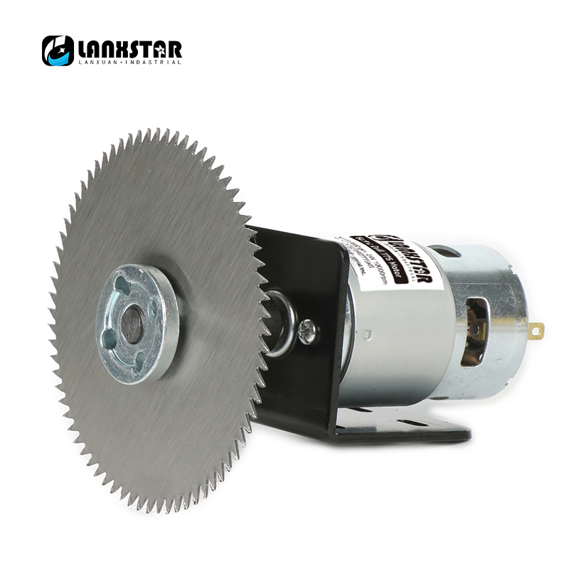 Lanxstar DC24V+100mm Round Table Saw Blade With Power Adapter Accessories Mini Table Saw Durable Bearing 775 Motor