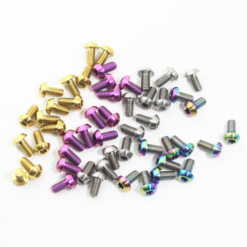 CHOOSE Mtb Bike Disc Brake Rotors Bolts M5 10 mm Titanium Bicycle Rotor Bolts Bicycle Accessories 12 piece lot in Bicycle Brake from Sports Entertainment