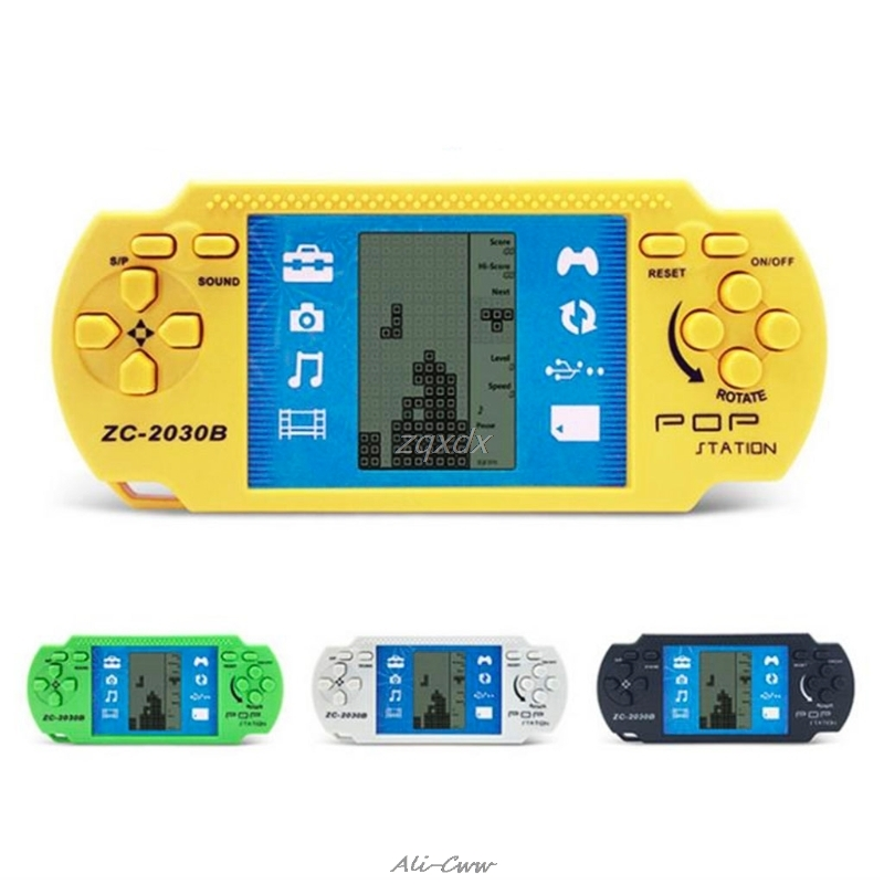 Classic Nostalgia Gaming Tetris Portable Handheld Game Console Children's Classic Game Hand-Held Gaming Player
