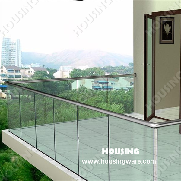 Frameless Glass Railing U Channel And Toughen Glass On