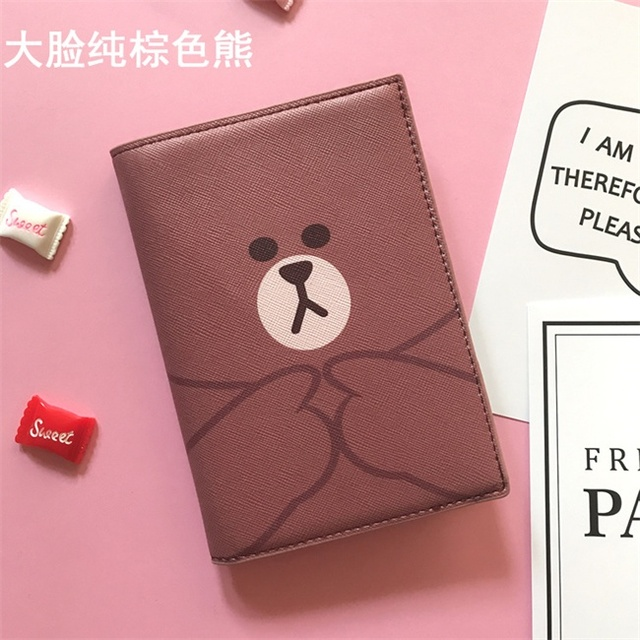 b22eccf14ae4 Cartoon We are Bears Passport Holder Men Leather Business Card cover Women  Credit Card holder Travel Passport Cover