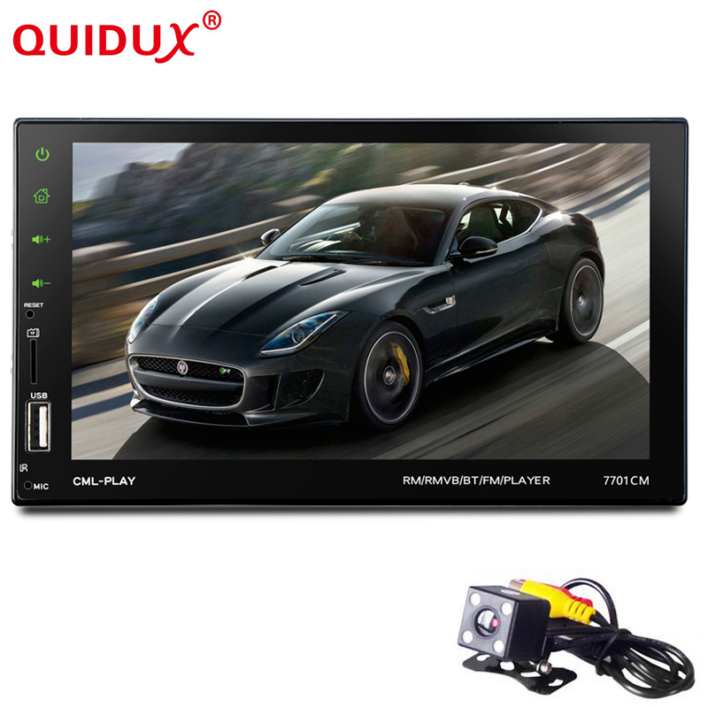 WHEXUNE New 2 Din Car Radio Touch Screen 7 inch GPS Android mirror link hands free BT/FM/TF/USB with rear view camera car audio 5 resistive screen wince 6 0 gps navigator w fm transmitter tf 4gb brazil map black red