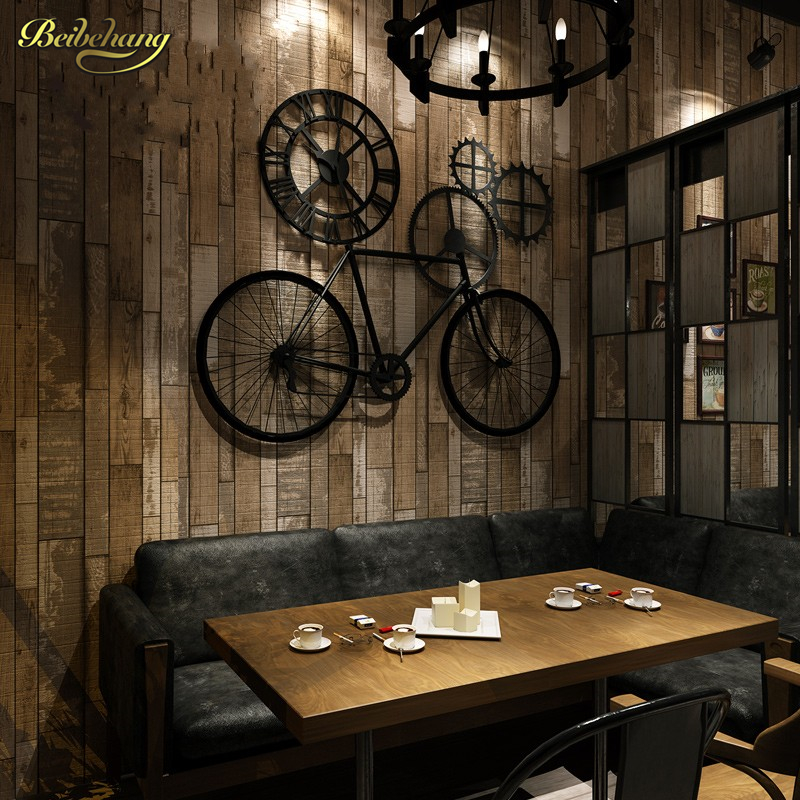 Beibehang american retro imitation wooden waterproof for Waterproof wallpaper for home