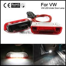 2 pcs Erro Free LED Luzes de cortesia Porta Lateral apto Para Volkswage Golf GTi EOS Jetta Passat branco Cor original 12 v