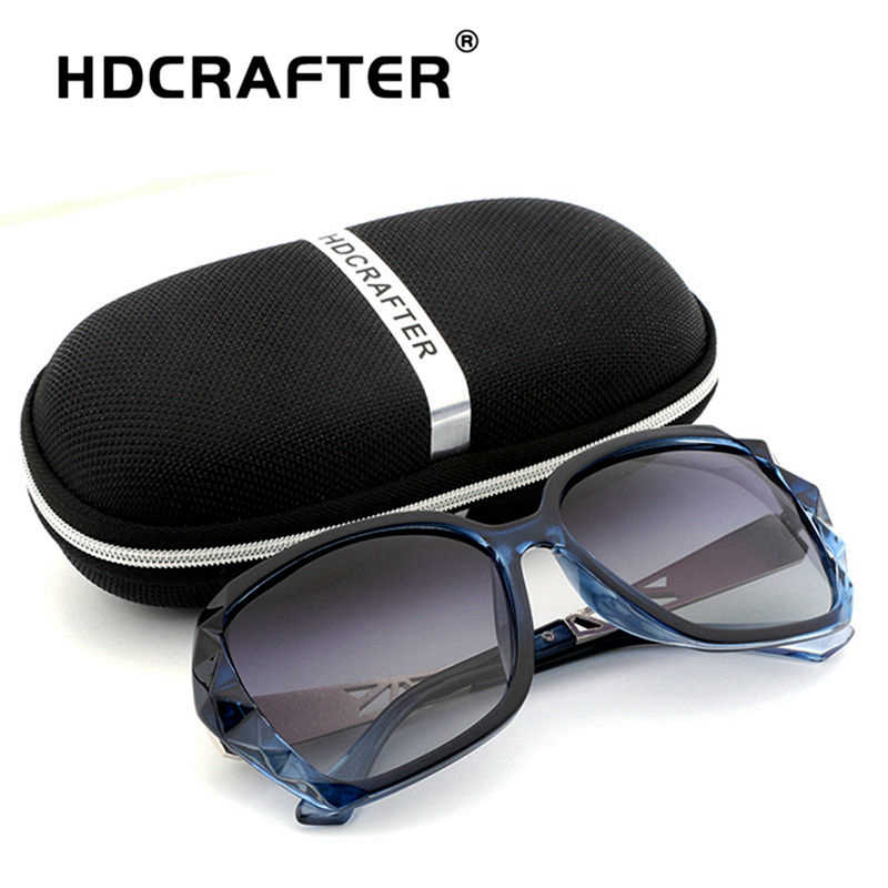 d1bf823ec2 ... HDCRAFTER Luxury Brand Design Rhinestone Polarized Sunglasses Women Lady  Elegant Big Sun Glasses Female Eyewear ...