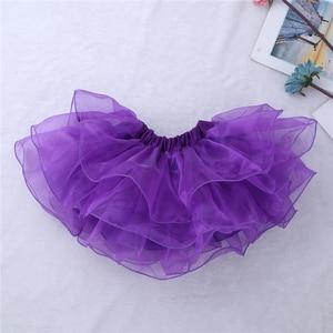 Image 4 - Viola Ragazze Costumi di Danza Moderna Sala Da Ballo Danza Halter Shiny Paillettes Crop Top con Gonne Clip di Capelli di Balletto Jazz Dancewear