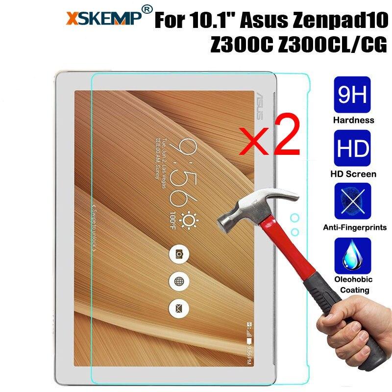 XSKEMP 2 Pcs/Lot 9 H Dur Tablet Trempé Verre Pour ASUS ZenPad 10 Z300C Z300CL Anti-rayures LCD Écran Protecteur de protection Film