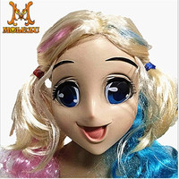 New Hot Design Quality Handmade Silicone Beautiful And Sweet Half Female Face Crossdress Mask Crossdresser Doll Face Mask
