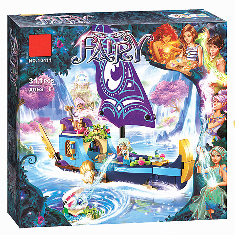 BELA 10411 Friends Elfes Naida Epic Adventure Ship Building Bricks Blocks Set Toys Compatible Fairy Elves 41073 for Girl hot nuevo 10415 elfos azari aira naida emily jones cielo fortaleza castillo building block toys