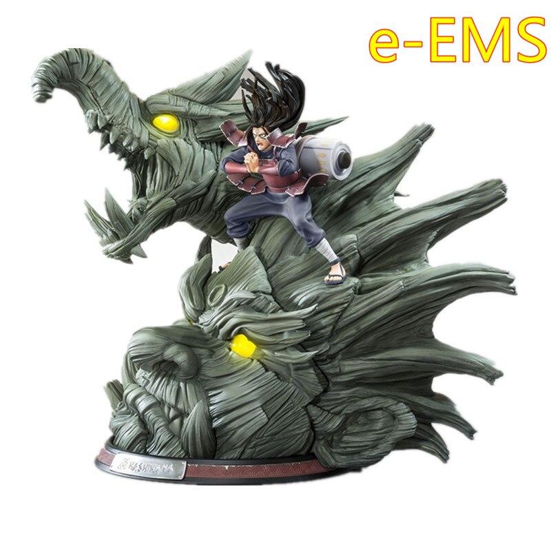 NARUTO Ninja Senju Hashirama jaune brillant yeux bois Dragon 1/8 GK résine Statue figurine modèle jouet G2352