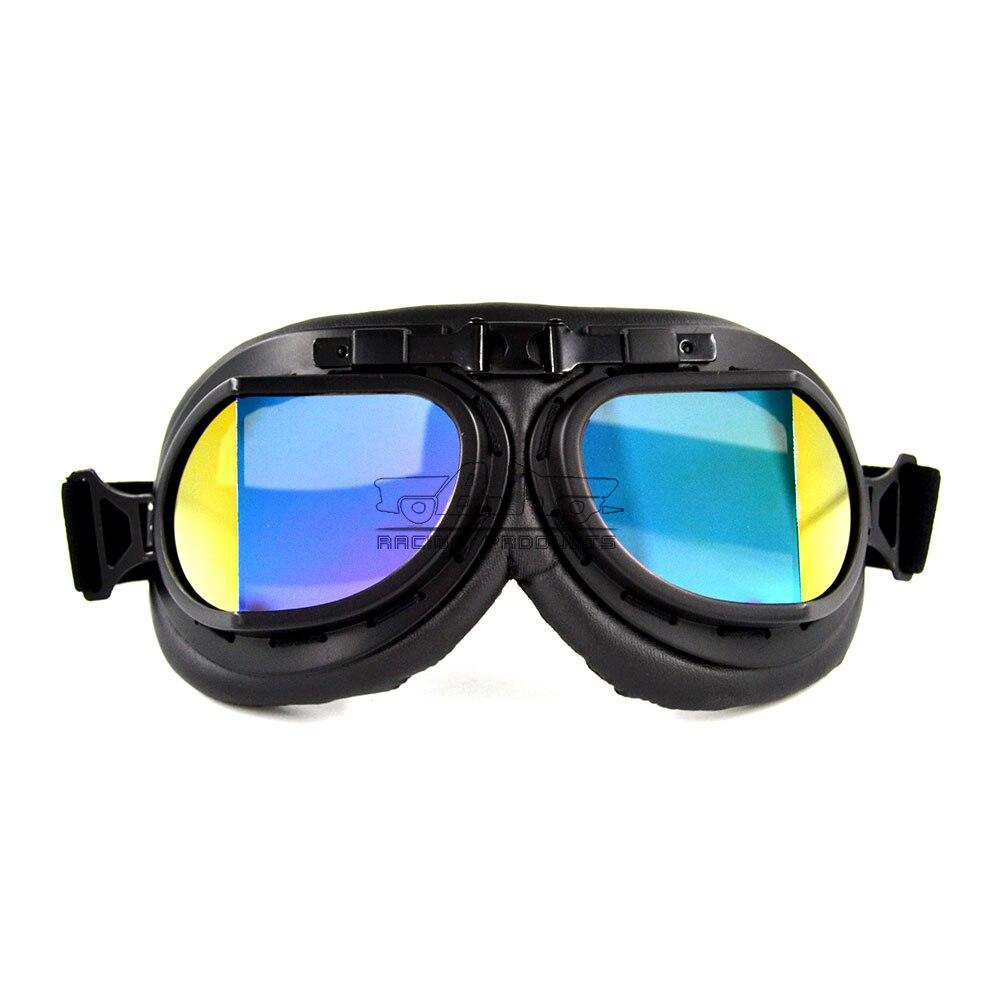 Bjmoto Free shipping Universal Moto Motocross Pilot Goggles Aviator Jet goggles glasses For Harley Retro Motorcycle goggles