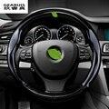 38 CM Estilo Do Carro Decoração do Carro De Fibra De Carbono Cobertura de Volante Interior-styling para BMW E39 E46 E30 E60 E90 F30 F10 F25 F26