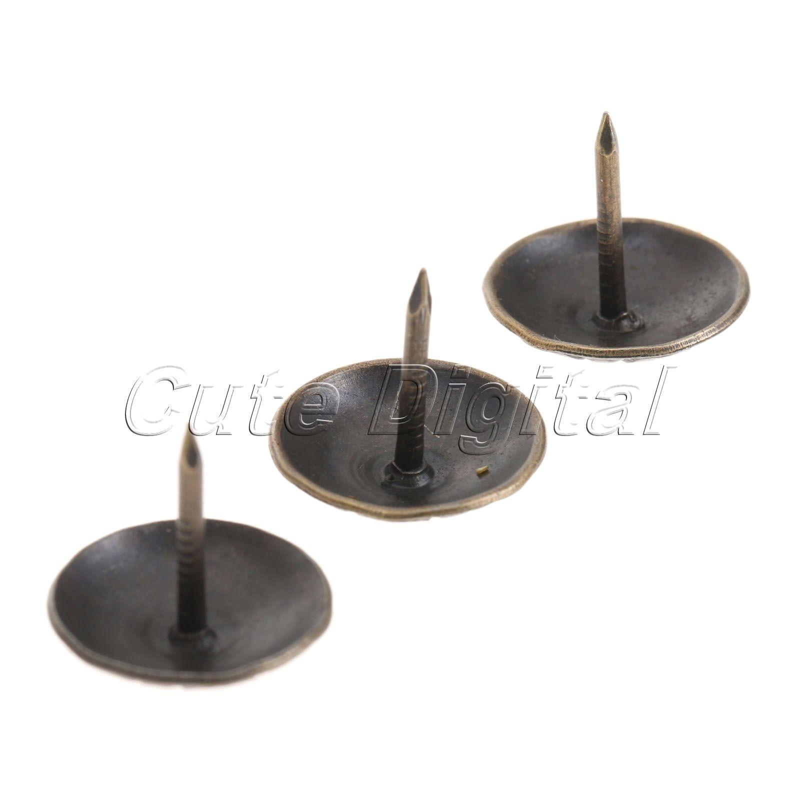 100pcs 16mm Antique Bronze Upholstery Nails Tacks Studs Vintage ...