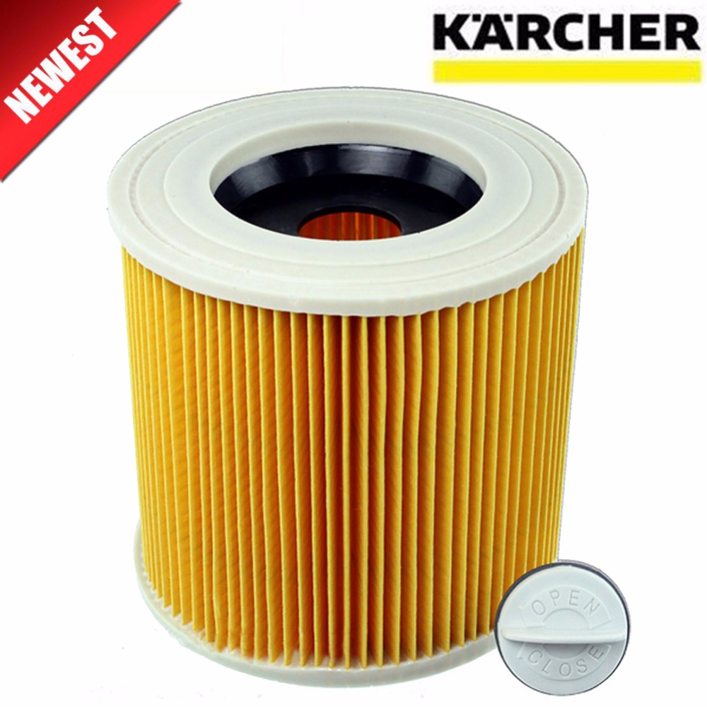 TOP quality replacement air dust filters bags for Karcher Vacuum Cleaners parts Cartridge HEPA Filter WD2250 WD3.200 MV2 MV3 WD3 10pcs replacement hepa dust filter for neato botvac 70e 75 80 85 d5 series robotic vacuum cleaners robot parts
