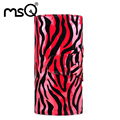 MSQ Fashion Toiletry Bag Red And Black Stripe Make Up Bag 24PCS Brushes Capacity Makeup Bag