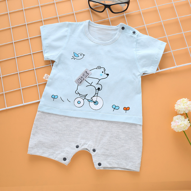 2018 baby rompers summer Newborn Infant Baby Boy Girl Summer clothes Short sleeve Cartoon Romper Jumpsuit Climbing Clothes
