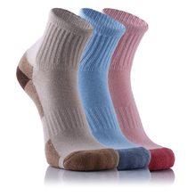 3 Pairs/Lot Women's Sports Socks Soles Thickening Outdoor Medium Thickness Middle Tube Hiking Cotton Socks cycling socks 3 pairs lot dh sports dh015 nylon men sports socks basketball outdoor hiking socks