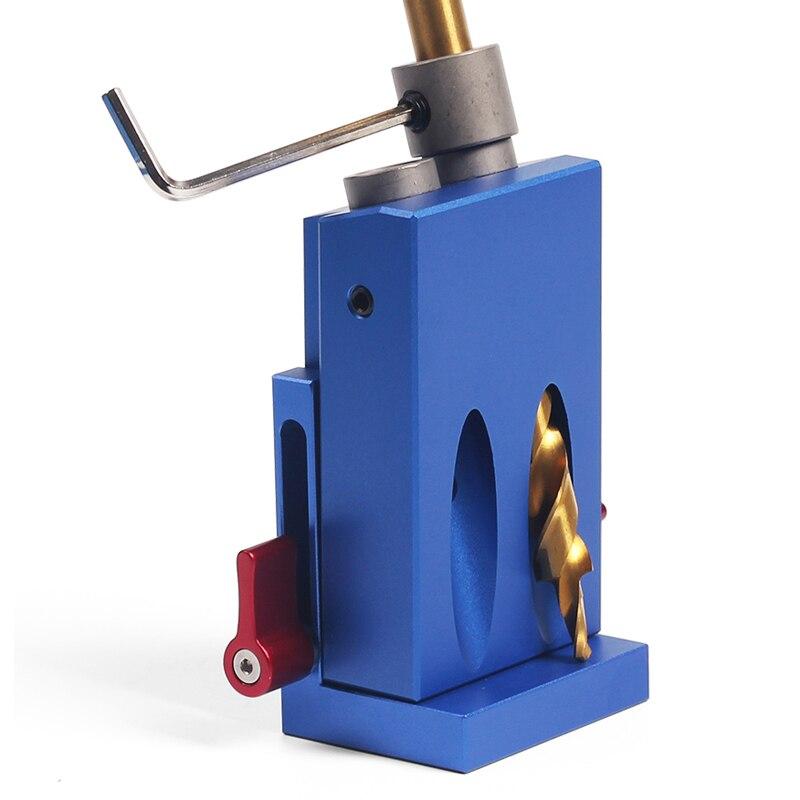 Mini Kreg estilo bolsillo agujero plantilla Kit de sistema para el trabajo de la madera y ventanas + de la broca de taladro paso y accesorios de madera herramienta de trabajo conjunto con la Caja