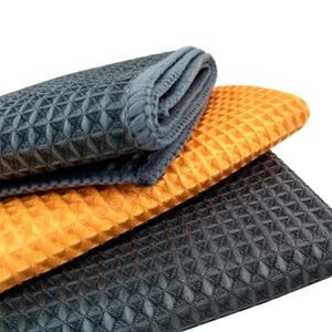 Image 4 - Высокое качество, полотенце для мытья автомобиля, сильные салфетки из микрофибры для очистки окон, автодетализация, вафельная ткань для кухонной ванны, 40*40 см, оптовая продажа