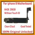 Бесплатный iCloud для iPhone 8 материнская плата с сенсорным ID/без сенсорного ID  оригинальная разблокированная материнская плата для iphone 8 с полны...