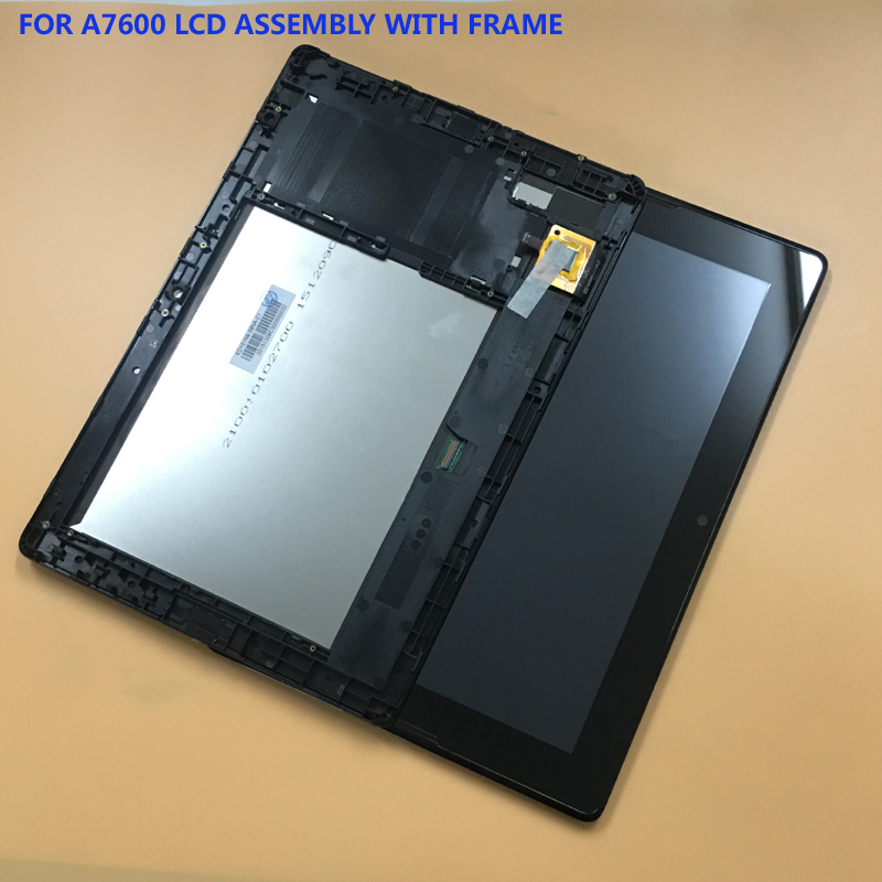 for Lenovo Tab A10-70 A7600-H A7600 A7600-F Touch Screen Digitizer Glass + LCD Display Panel Assembly Silever Frame jianglun touch screen digitizer glass replacement for lenovo a10 70 a7600 h tab