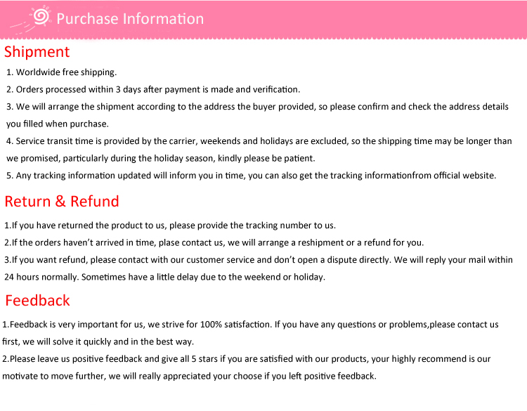 purchase info.