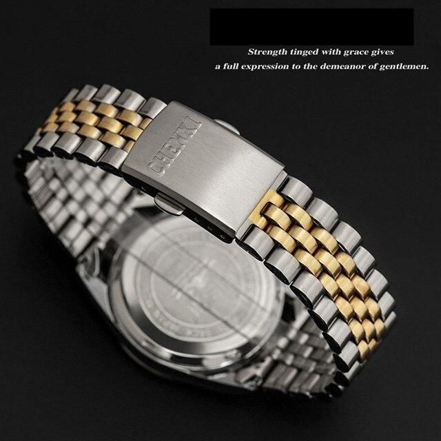 Gold Watch Men Fashion Sports Quartz Full Steel Gold Business Mens Watches Top Brand Luxury Waterproof Watch Relogio Masculino