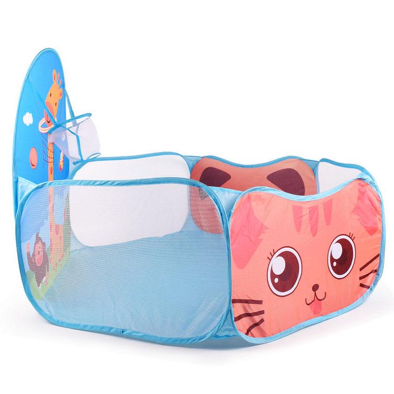 Домашняя игровая палатка с океаническим мячом, игра в складной бассейн для детей, детские игрушки