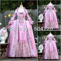 Freeshipping!19 Century Pink Civil War Southern Belle Gown Victorian Dress Lolita dress US6 26 V 313