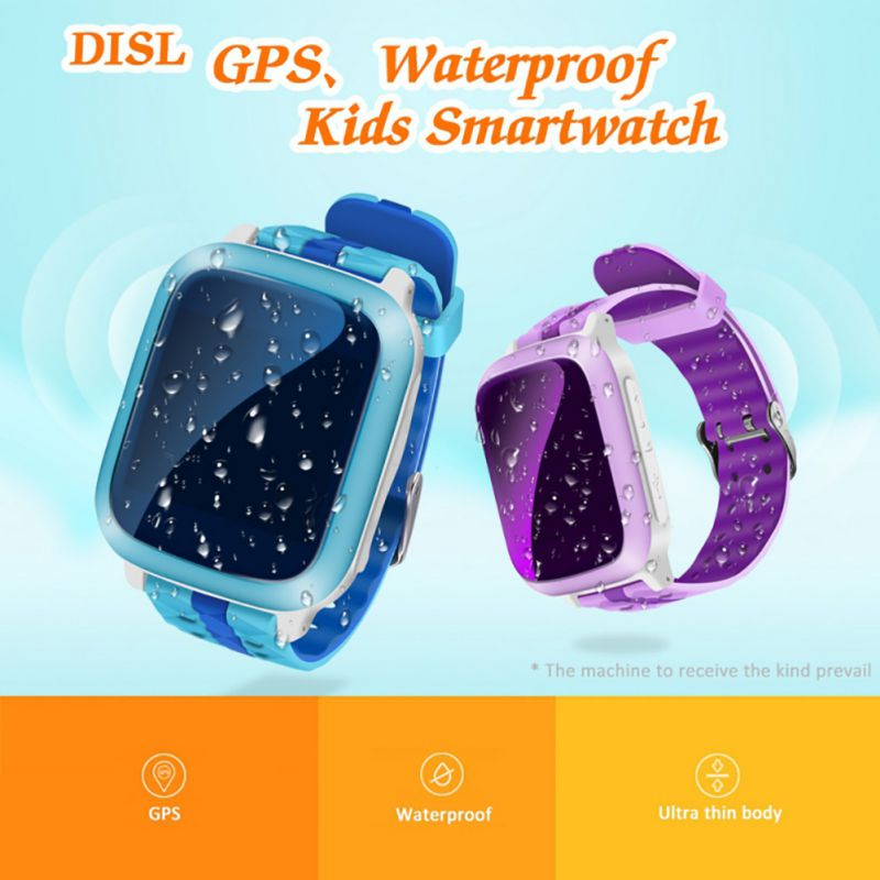 DS18 Waterproof Drop-proof Smart Watch Emergency Help Alarm Clock Voice Intercom Sports Step Counter Children's Watch