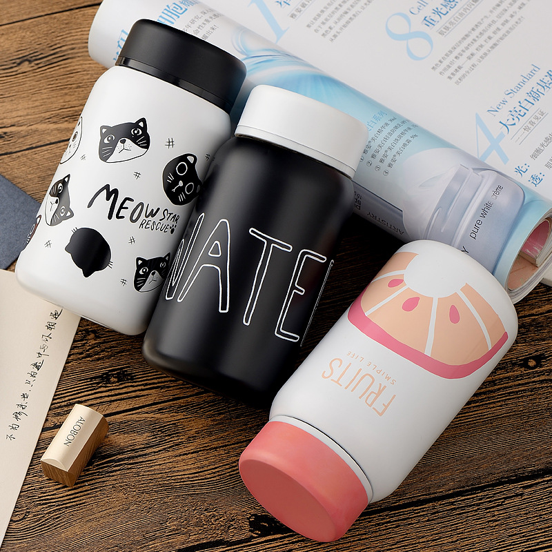 Cartoon Thermos Cup Bottle Stainless Steel Vacuum Cup Thermocup Thermal Mug Insulated Tumbler For Car Coffee