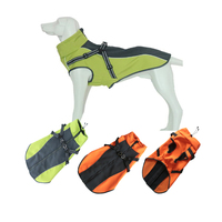 Dog Jackets Coat With Chest Harness Outdoor Waterproof Clothes For Medium Large Dog Autumn Winter Warmly Big Dog Jacket Clothes