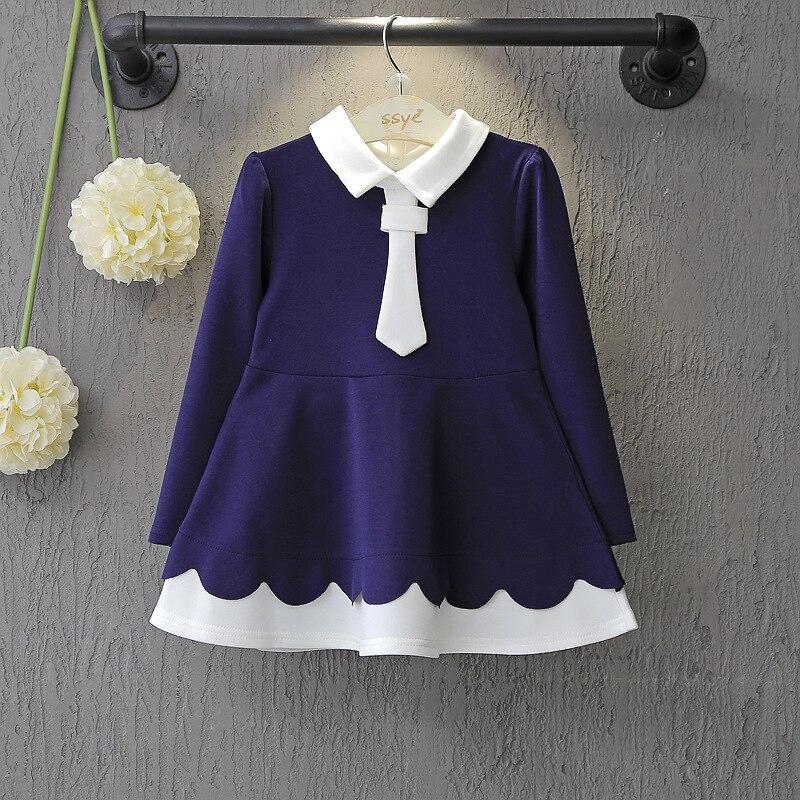 8d616ed4e3793 2019 الخريف الكورية الاطفال فساتين للبنات كلية الرياح فستان بكم طويل منافذ  مصنع ملابس الأطفال 19802