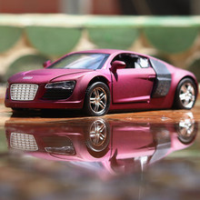 1:32 Scale Alloy Diecast Metal Car Model For R8 Series Collectible Model Collection Pull Back Toys With Sound&Light  Children's