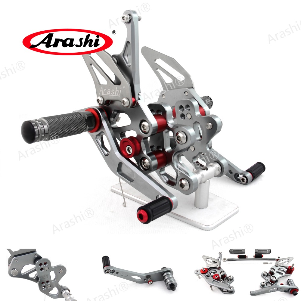 Arashi For SUZUKI GSXR600 GSXR750 2006  -2010 Rearset Adjustable Footrests Foot Pegs GSX-R600 GSX-R750 2007 2008 2009 GSXR 600