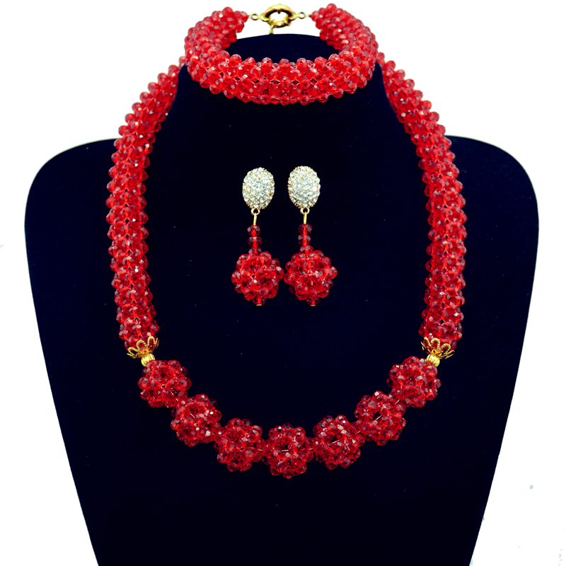 Nigerian Statement Necklace Wedding African Beads Jewelry Set Crystal Jewelry Set African Costume Jewelry Sets Beads new arrivals single lever basin faucet hot and cold water tap gold kitchen sink faucet water tap 4 colors kitchen faucet