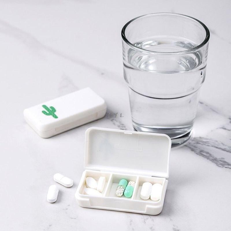 Мини 3 сетки таблетки коробка медицина таблетки диспенсер для хранения Органайзер контейнер инструмент портативный аптечка или коробка ко...