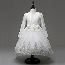 8159f859ad0f baby Pink White wedding dresses for little girl pearl flower girls ...