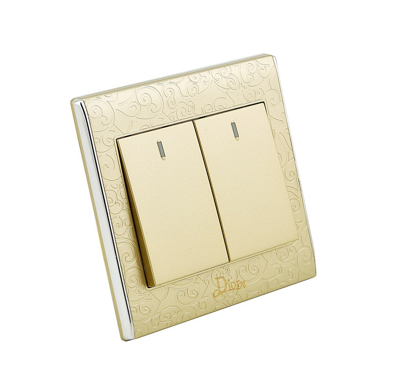 цена на MK-WS05004 PC Flame Material 10A 250V 2 Gang Switch 2 Way Light Wall Switch  Panel for Home Decoration